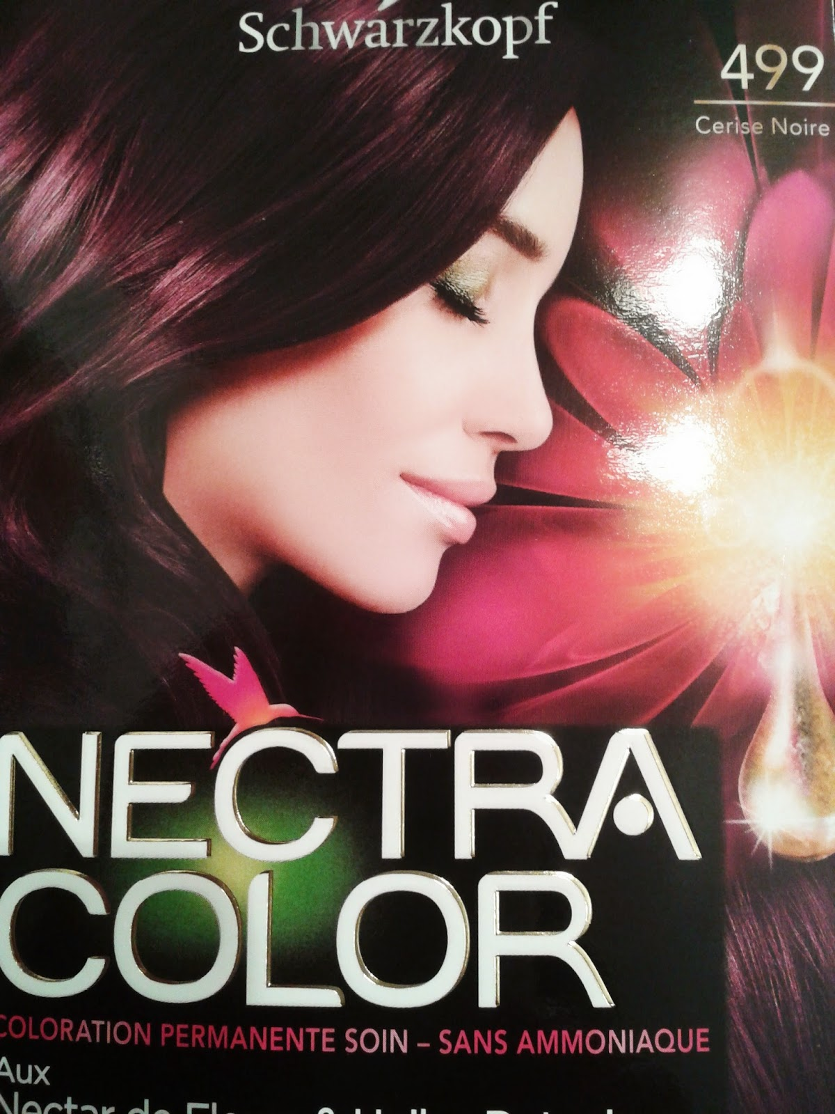 nectra color 499 cerise noire joli packaging - Coloration Noir Cerise