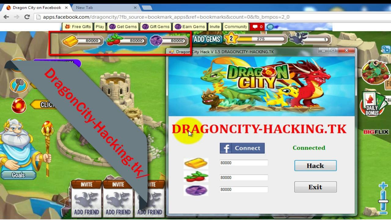 Hack V 1.5 | Dragon City Unlimited Gold Hack ,Food Hack & Gems Hack