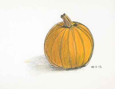 Orange Pumpkin Drawing