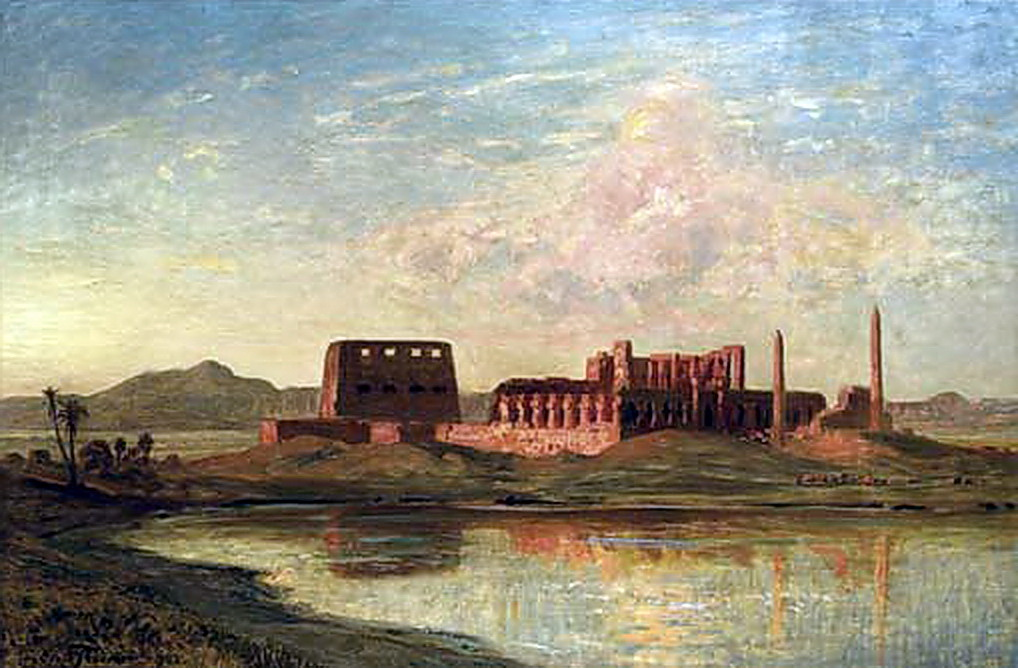 Karl Körner cairo paintings ernest karl eugen koerner german 1846 1927 ancient ruins on