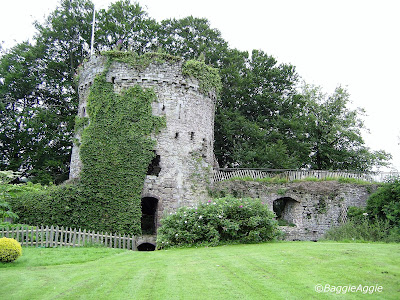 The Garrison Tower, c.1209, Usk Castle, Monmouthshire, South Wales.