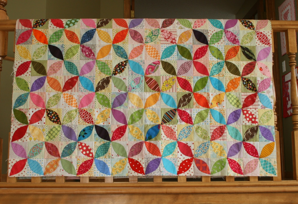 crazy mom quilts: apple cake quilt top