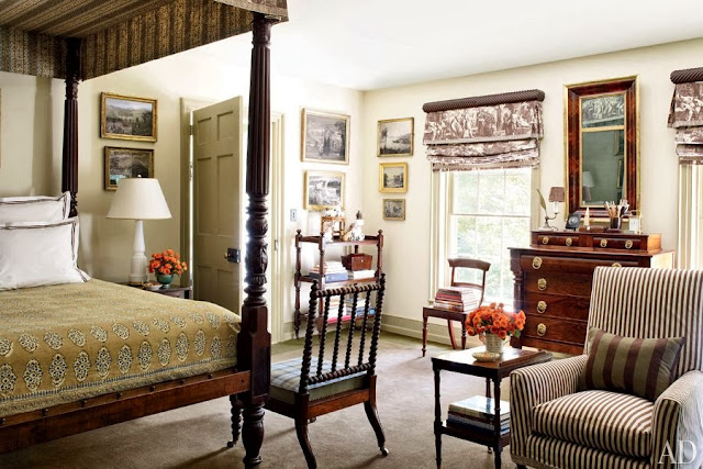 Home interior design an elegant federal style country house for Elegant country home decor