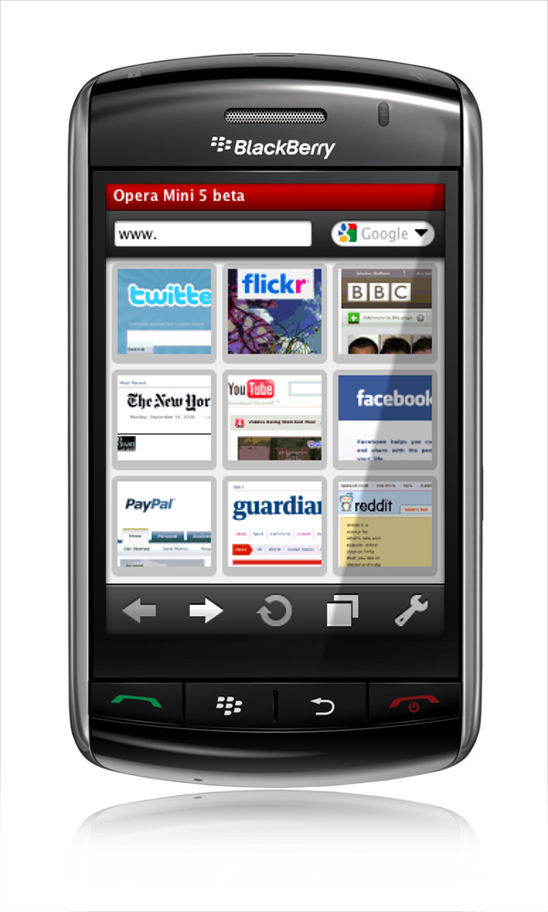 Opera Mini is a fast and tiny Web browser, that allows you to access