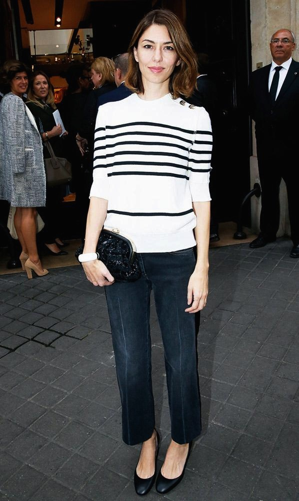sofia coppola jeans striped sweater style fashion