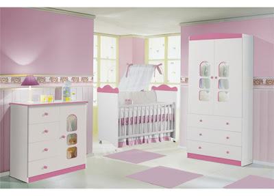 quarto para bebê, menina, rosa