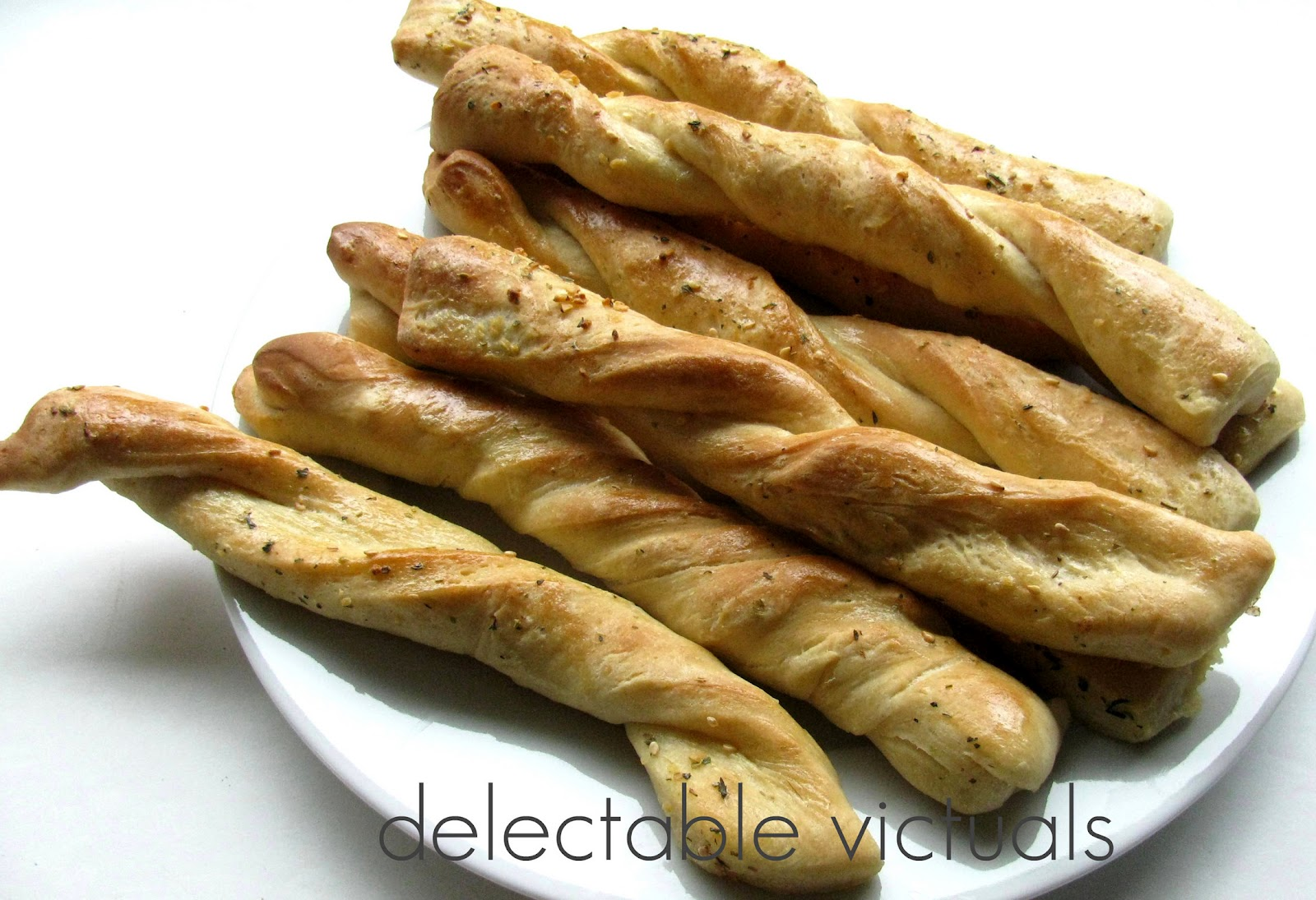 easy recipe home-made garlic herb breadsticks
