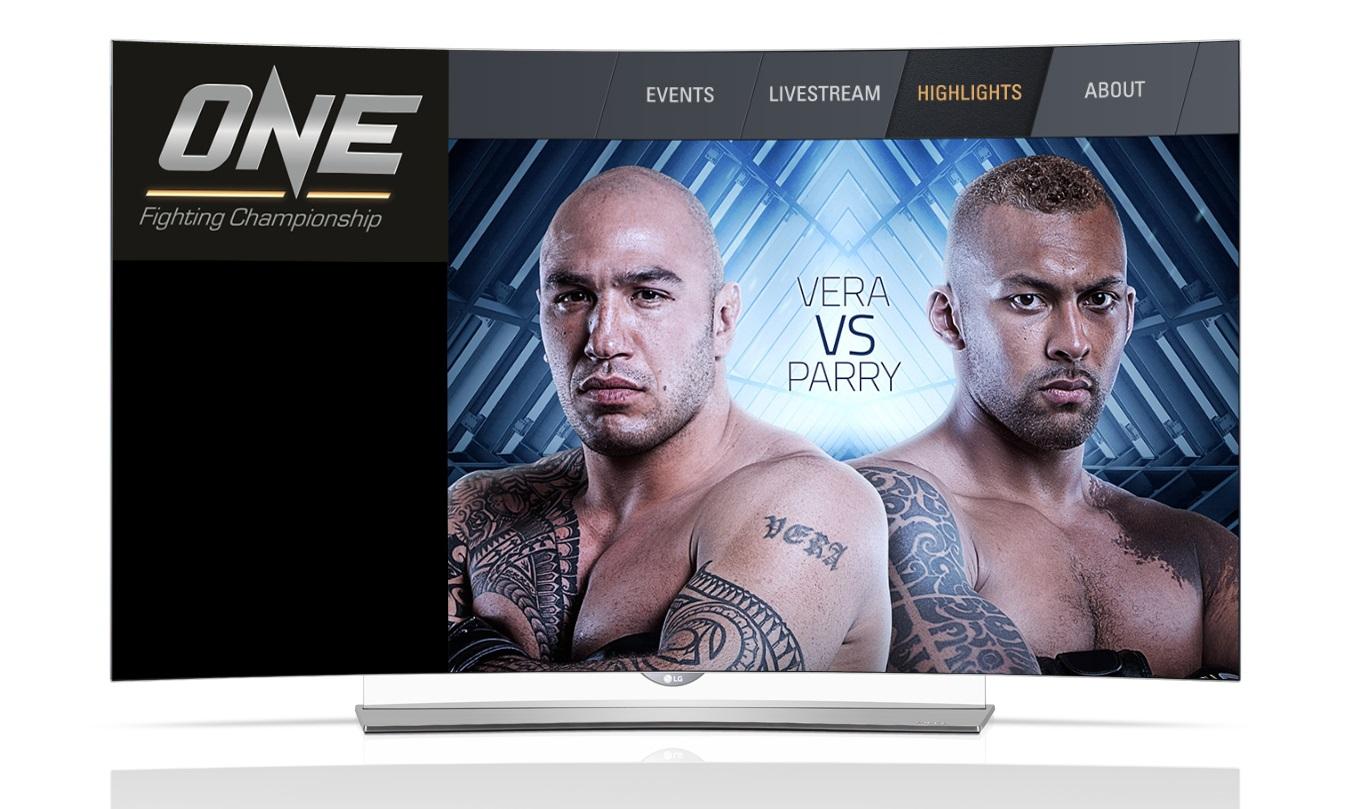 One FC app on LG's Curved 4K OLED TVs
