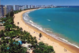 Isla Verde strand, Puerto Rico, Caribien