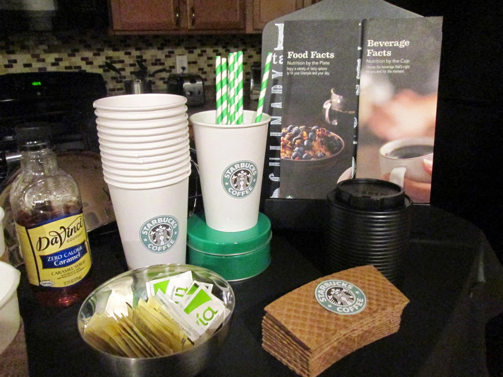 Lifestyle post on DIY and dessert ideas on how to throw a starbucks birthday party