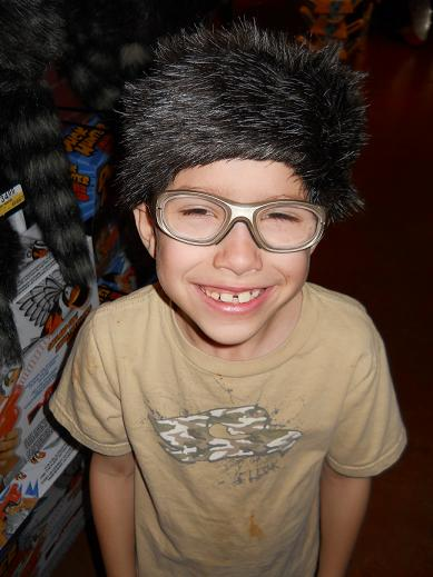 Caden with his Coon hat!