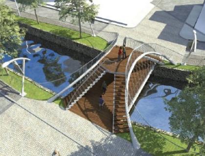 Διώροφη γέφυρα στα ποτάμια. Φαντάστηκαν την Έδεσσα Jurassic park