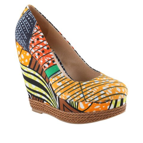 SHOE STALKING SNAP UP THESE AFRICAN PRINT WEDGES ALL