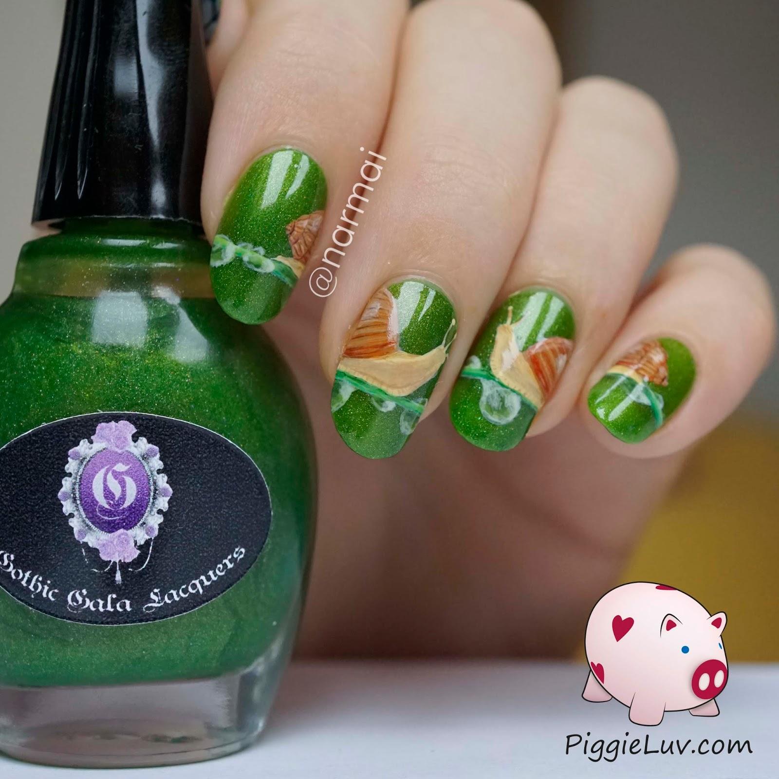 Love Nail Art: PiggieLuv: Snails In Love Nail Art