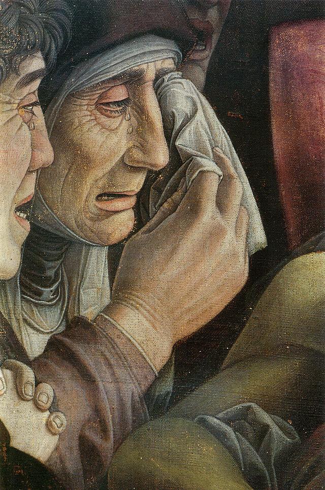 Detalle del Cristo Muerto (Andrea Mantegna)
