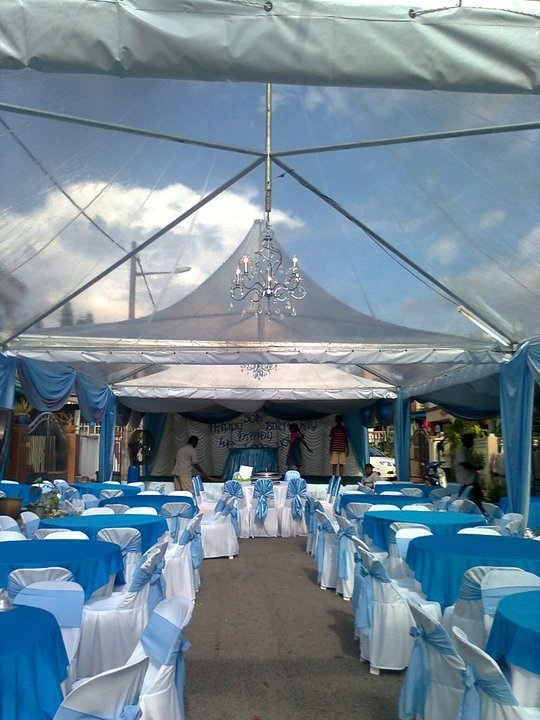 tent, canopy seats cover blue theme