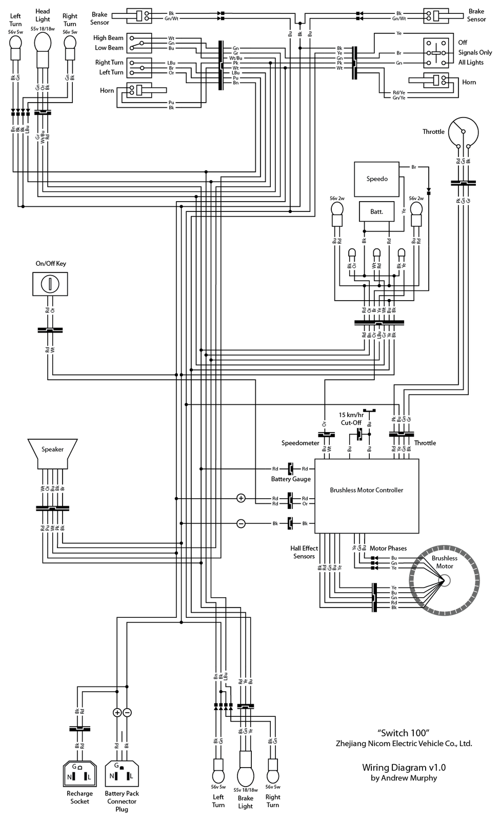 electric bike wiring diagram