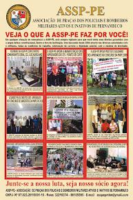 Panfleto com as reividicações da assp-pe- associação de praças policiais e bombeiros militares pe.