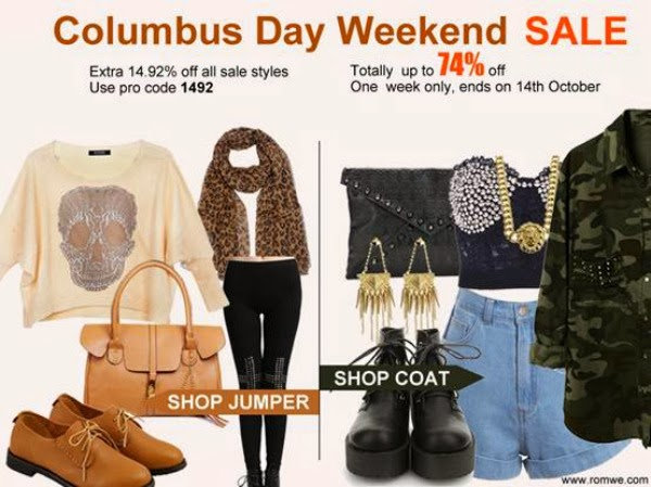 Romwe Columbus Day Weekend Sale!