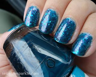 Turquoise Layering Manicure