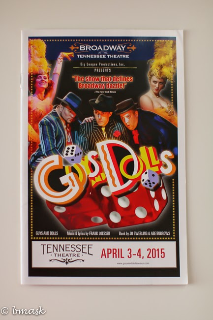 Guys and Dolls, Tennessee Theatre, Tupelo Honey Cafe,Scruffy City Hall