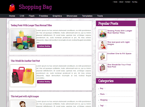 Shopping Bag Blogger Theme