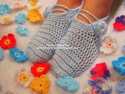 ✿Mis pantuflas tejidas:✿