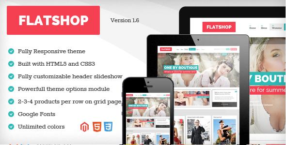 Download Free Flatshop v1.6.1 – Responsive & Retina Magento Theme