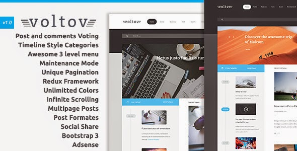 Voltov - Blog and Magazine WordPress Theme