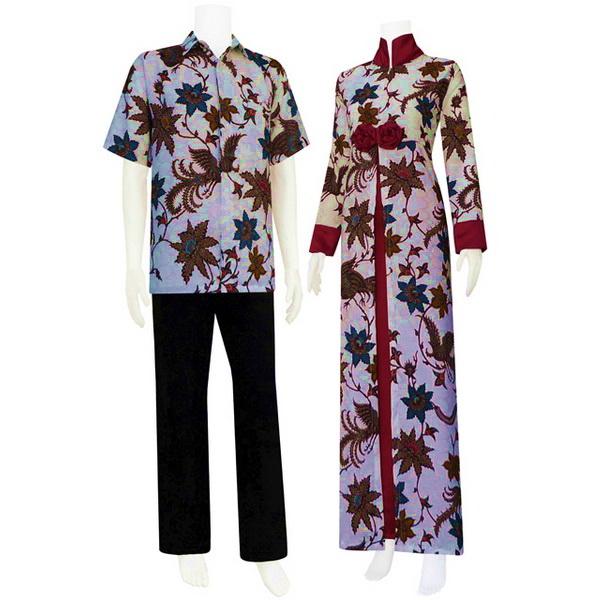 Model Gamis Batik Kombinasi Maret 2013 Model Baju