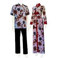 SG 5113 - Batik Gamis/Muslim Pasangan Solo 2013