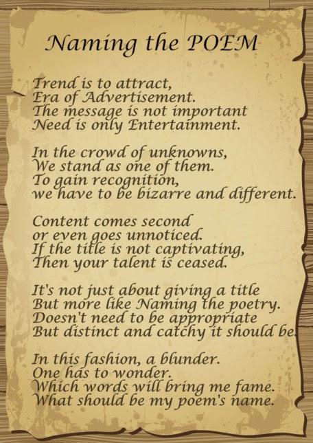 Naming the Poem