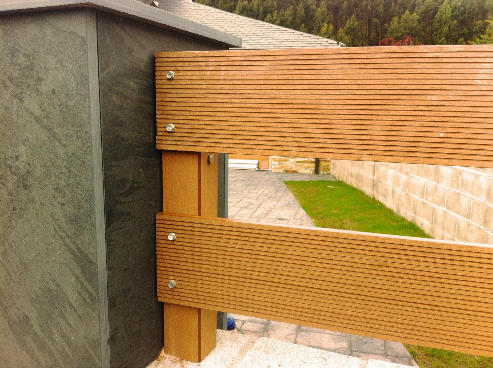 Valla de madera para jardin gallery of valla tipo for Cerrar valla jardin