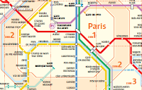 Paris zones map