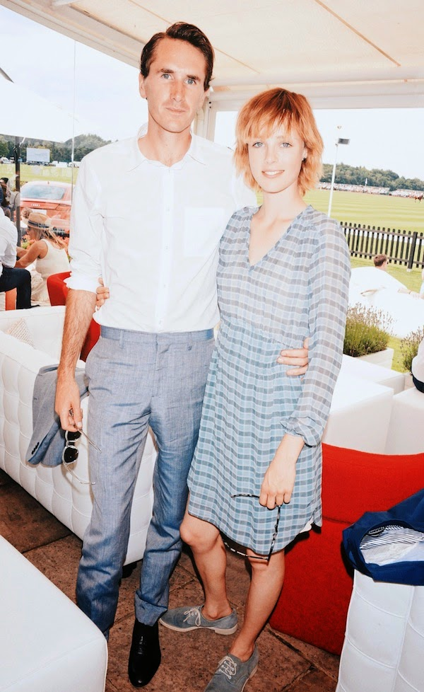 Edie Campbell and Otis Ferry in Burberry - 2014 Audi Polo at Guards Polo Club