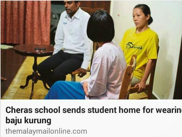 Pelajar pakai baju kurung dihalau kerana nampak pakaian dalam