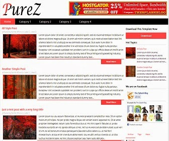Share PureZ Blogger Template