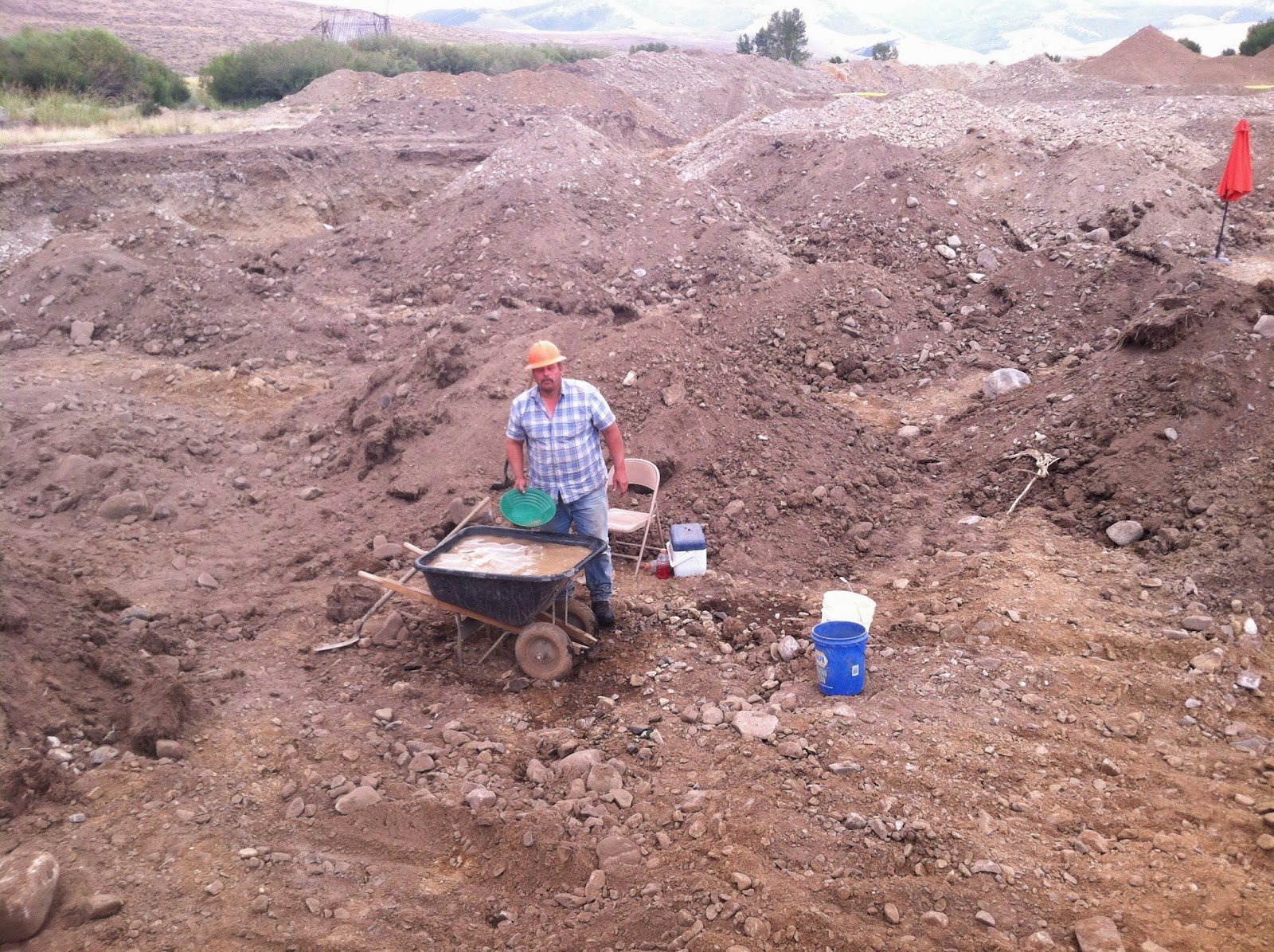 A good panner  will help your placer mining endeavors