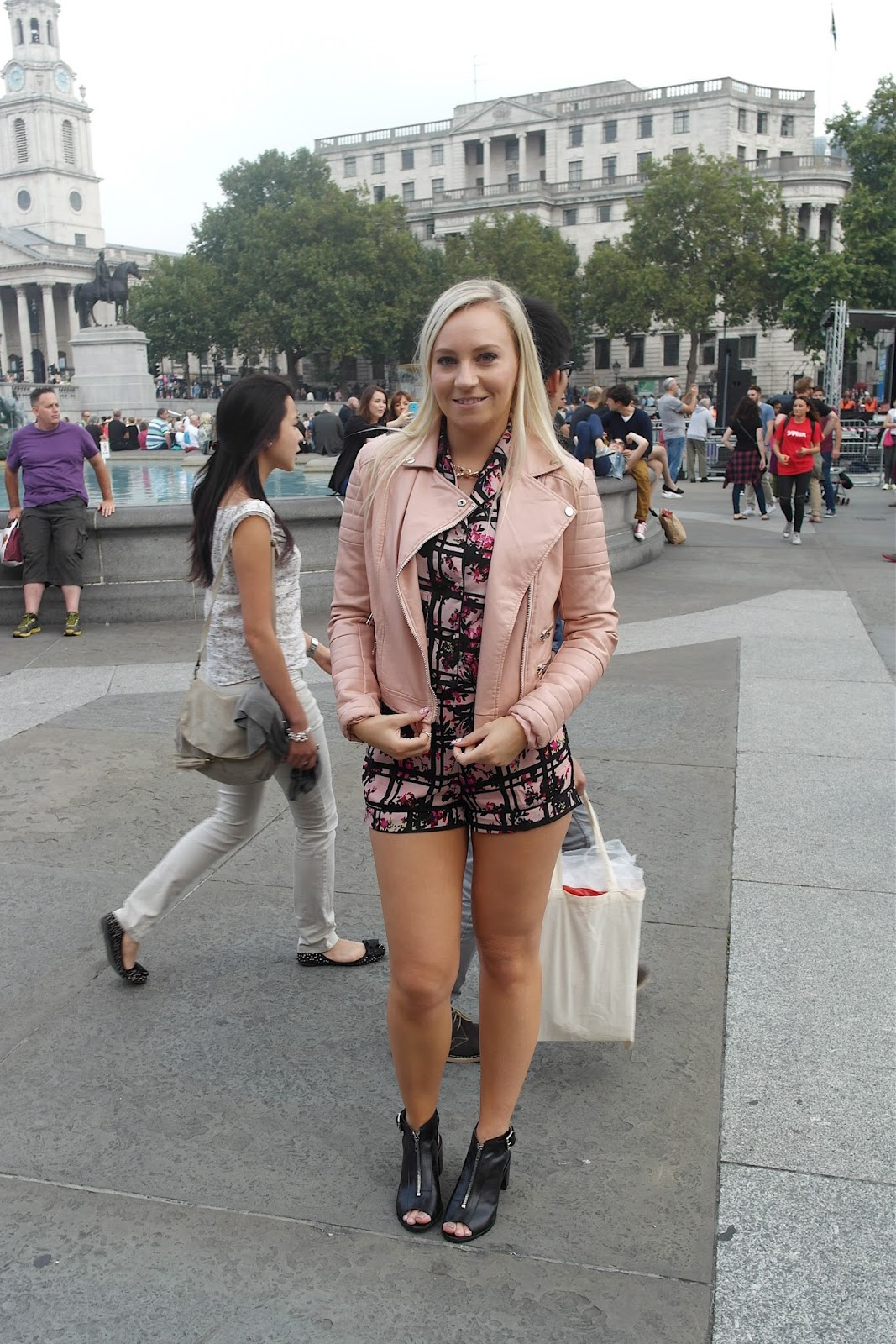Missguided pink biker jacket