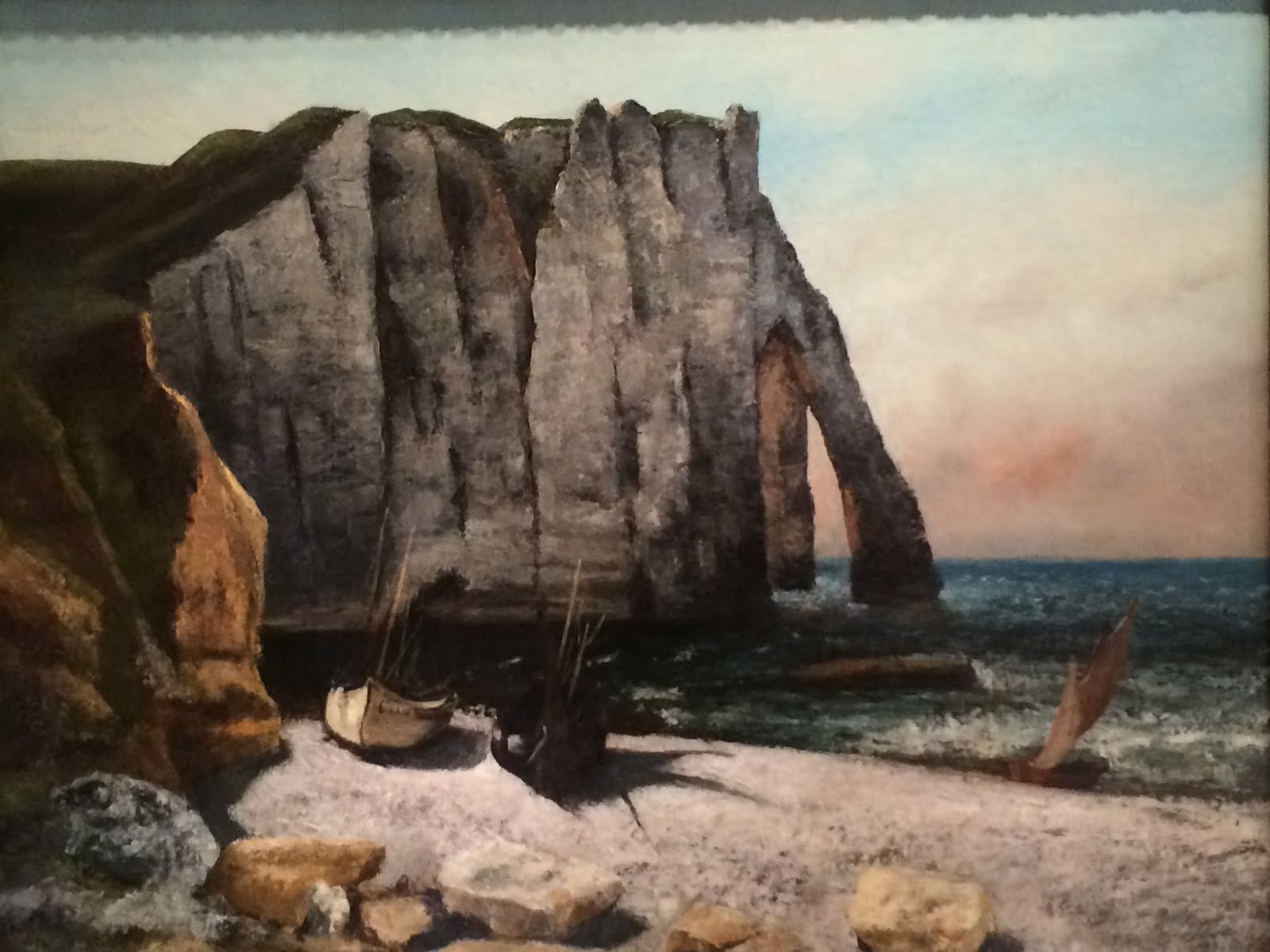A favorite seascape by Courbet--