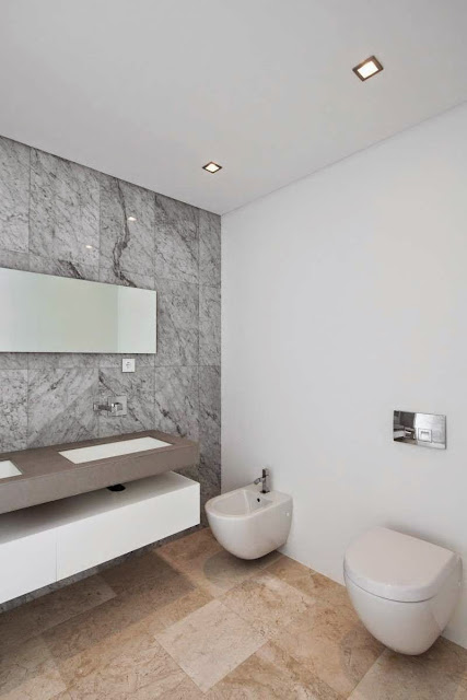 white bath room idea Modern House with Pool in Tavira