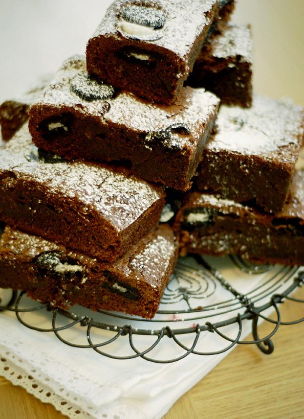Cookies and Cream Brownies | Katiecakes