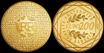 Pièce de 200 euros en or Euros des Régions 2012