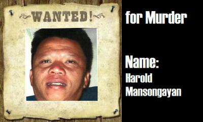 WANTED: Harold Mansongayan