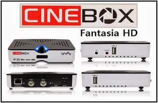 Atualizacao do receptor Cinebox Fantasia HD