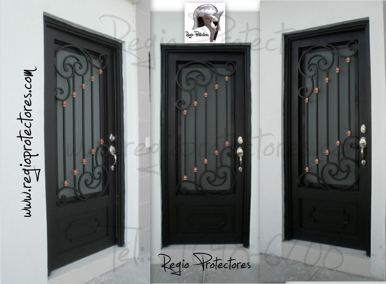 Regio protectores puerta principal de hierro forjado - Puertas de herreria para entrada principal ...