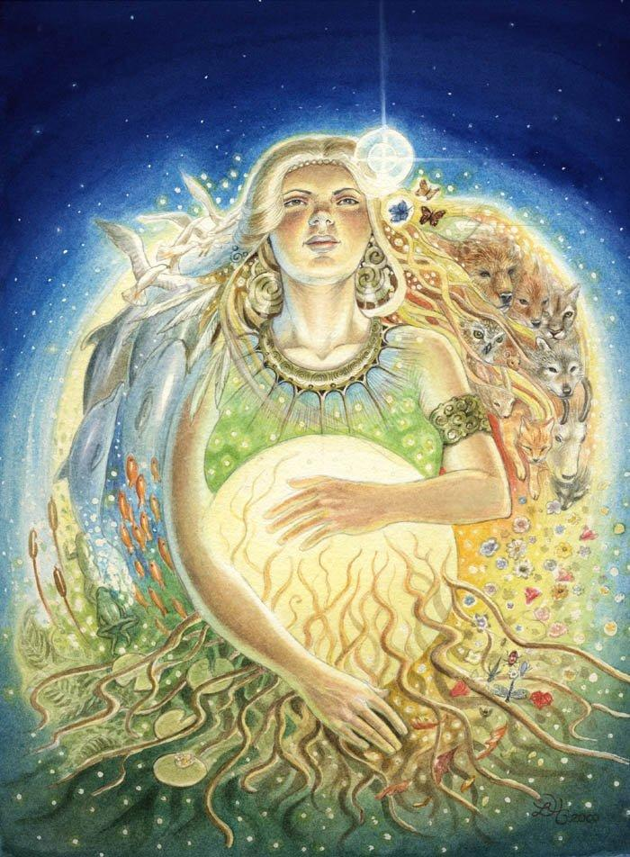 Gaia rising Goddess of nature greek