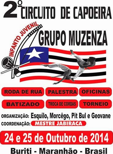 2º CIRCUITO DE CAPOEIRA DO GRUPO MUZENZA
