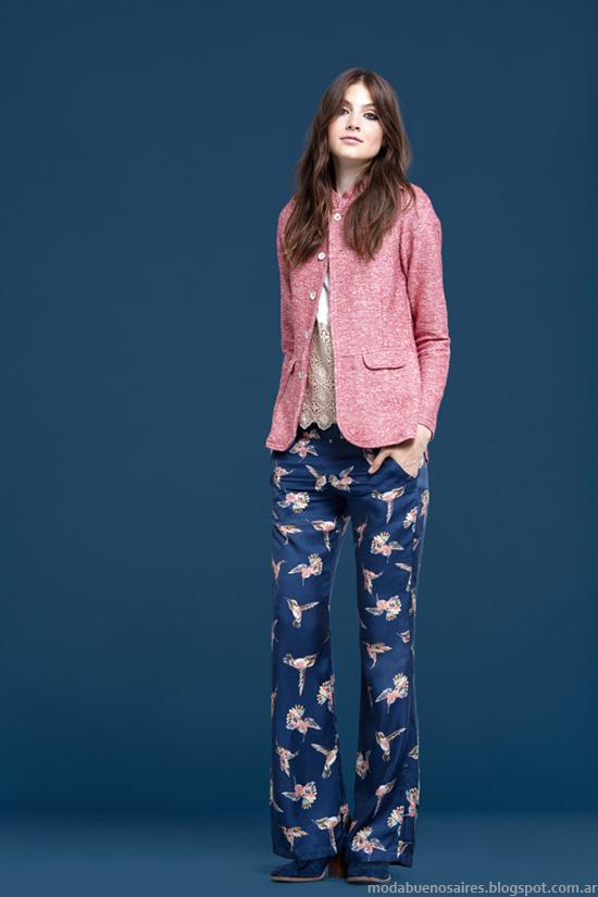 Pantalones estampados Wanama otoño invierno 2014.