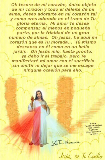imagen de jesus con texto del diario